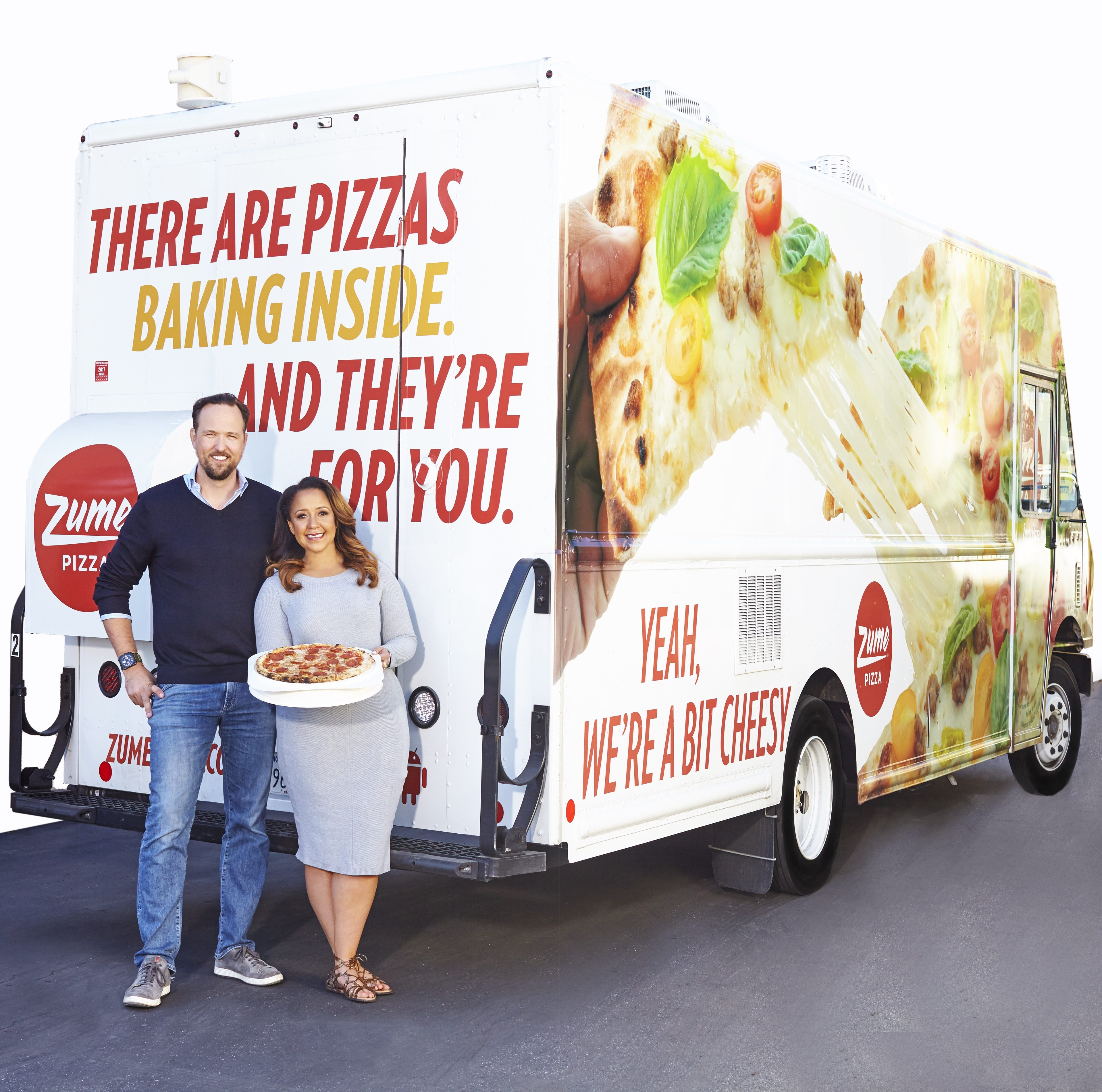 "Zume Pizza ""Baked on Way"" Delivery Truck"