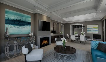 Luxury Hotel Rendering Living Room
