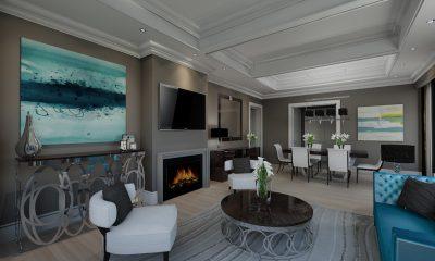 Luxury Hotel Rendering Living Room