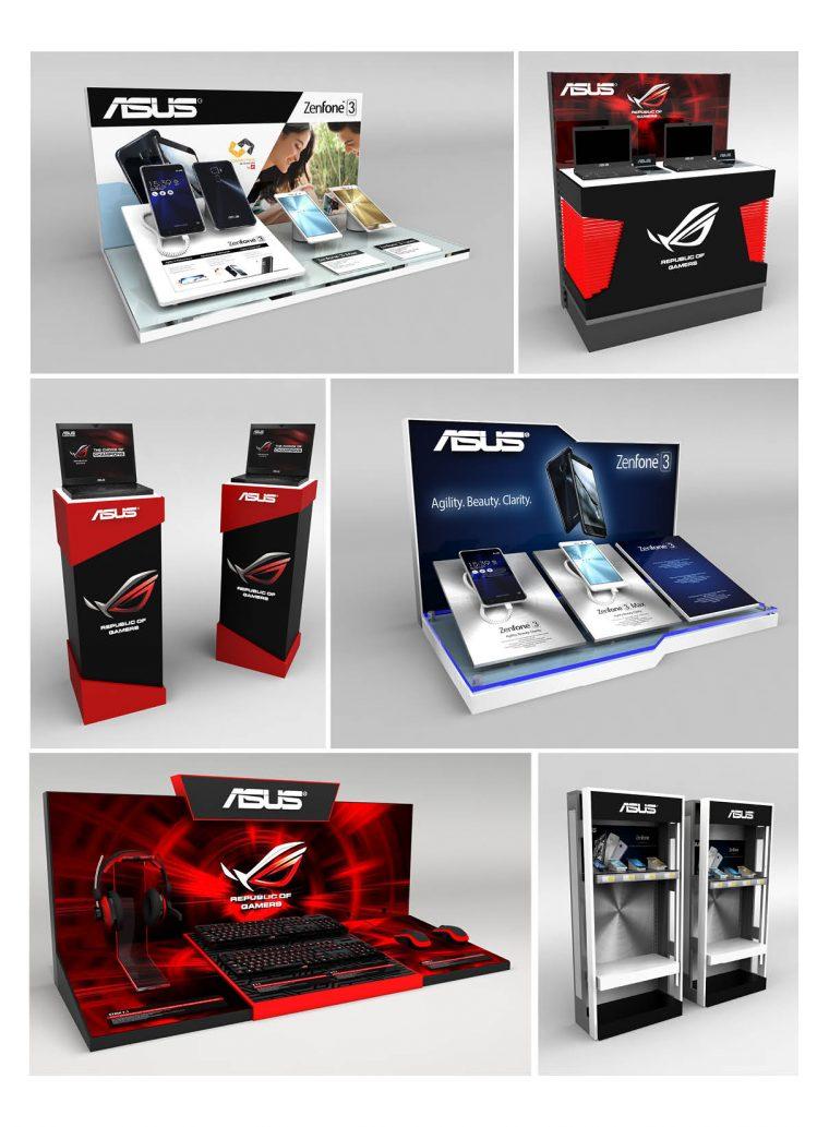 Asus Retail Displays